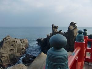 鵜戸神宮参道の海岸