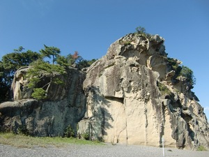獅子岩・正面