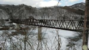 五十里湖上の鉄橋