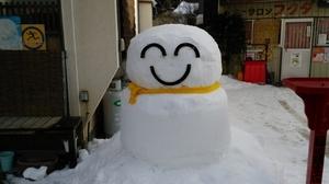 雪だるまがお出迎え