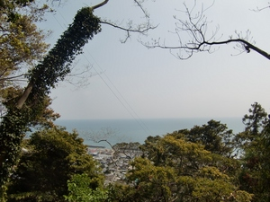 石段からの駿河湾