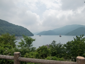 芦ノ湖到着