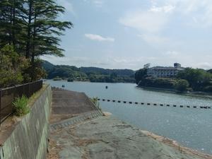 亀山湖と亀山温泉