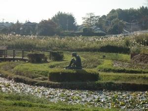 牛久沼のかっぱ像